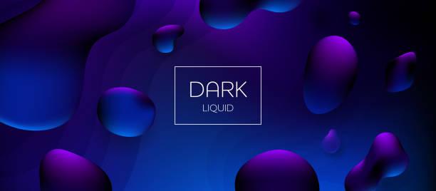 Abstrakter Liquidgrintergrund – Vektorgrafik