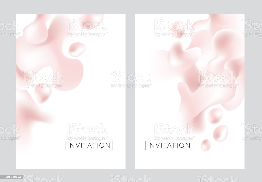 Abstract liquid element in delicate pearl color vector art illustration