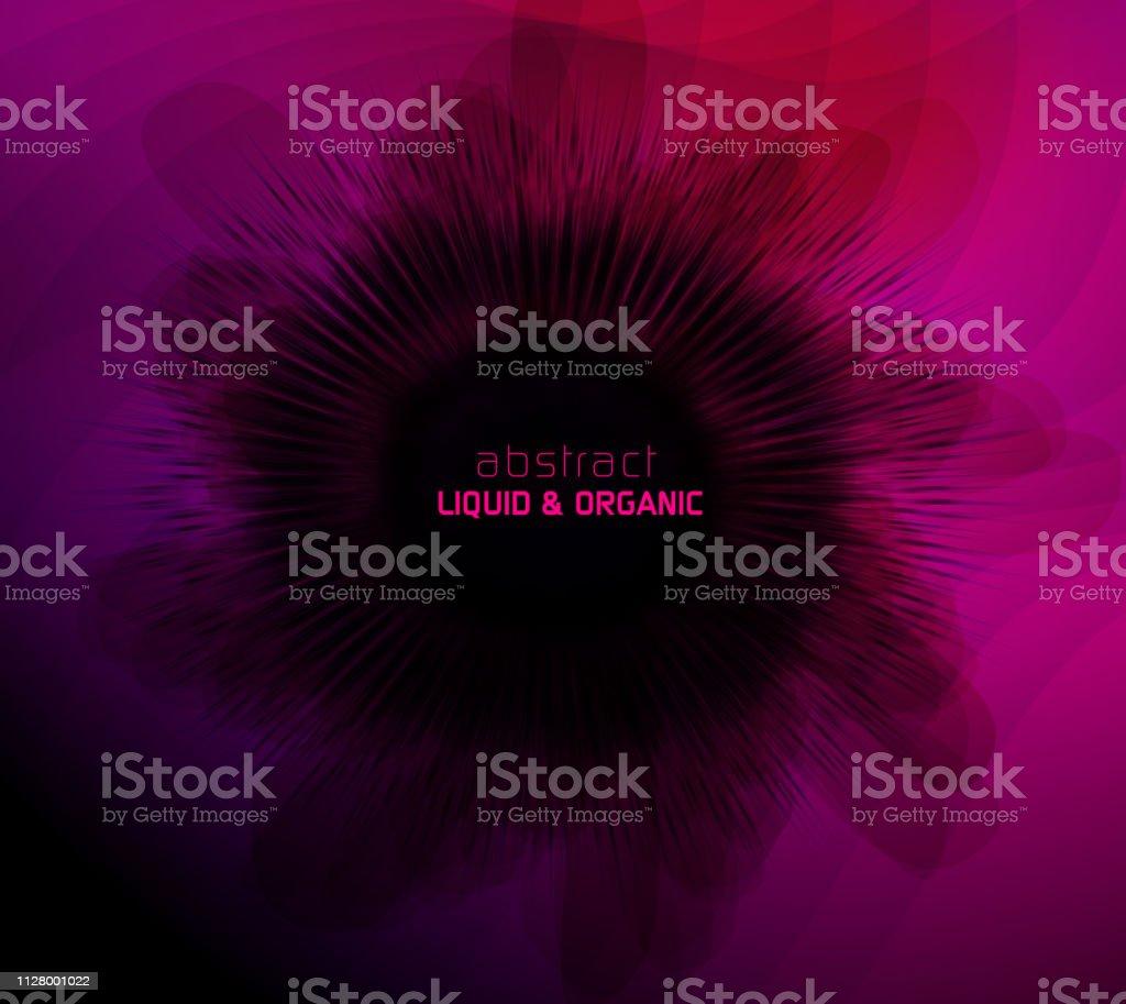 Abstract Liquid Organic Background vector art illustration