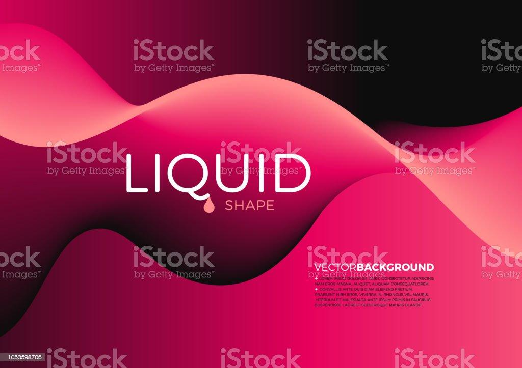 Abstract Liquid Shape Background vector art illustration