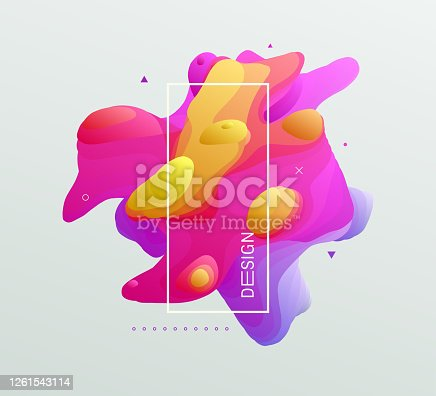 istock Abstract liquid shape for flyer, cover, poster, card, invitation or banner. 1261543114