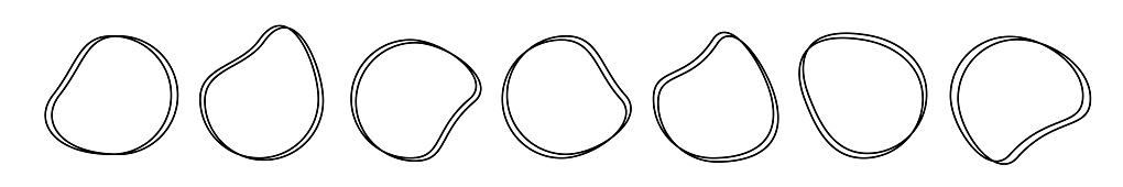 Abstract liquid shapes. Organic blobs, liquid elements. Futuristic shape ink blots.