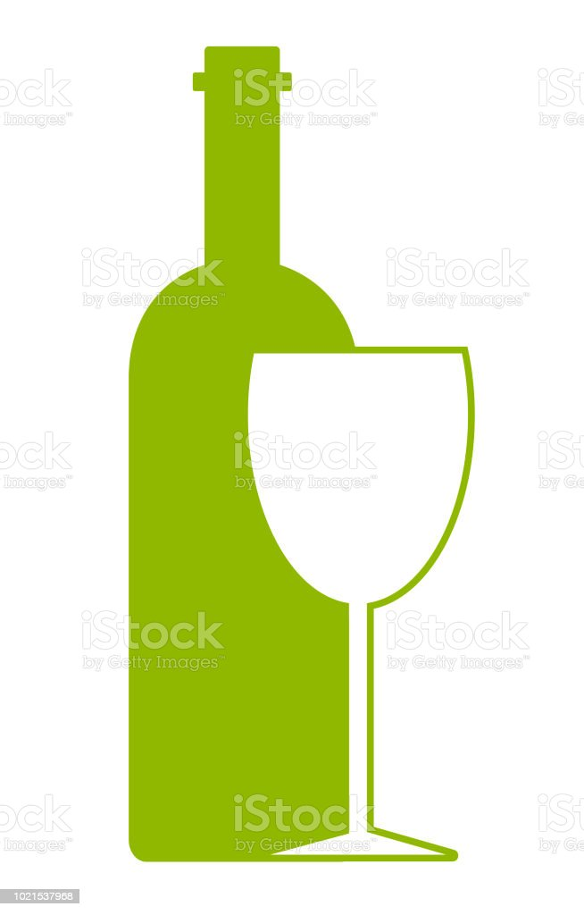 abstract logo design template wine bottle and glass stock vector art