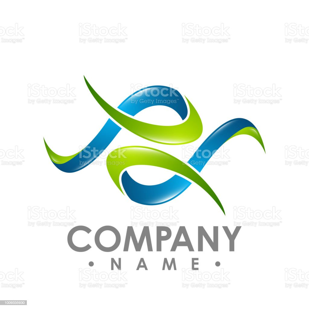 3d Abstract Logo Resembling Letters P And S Letter P 3d Logo Style