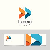Abstract logo with business card template 08