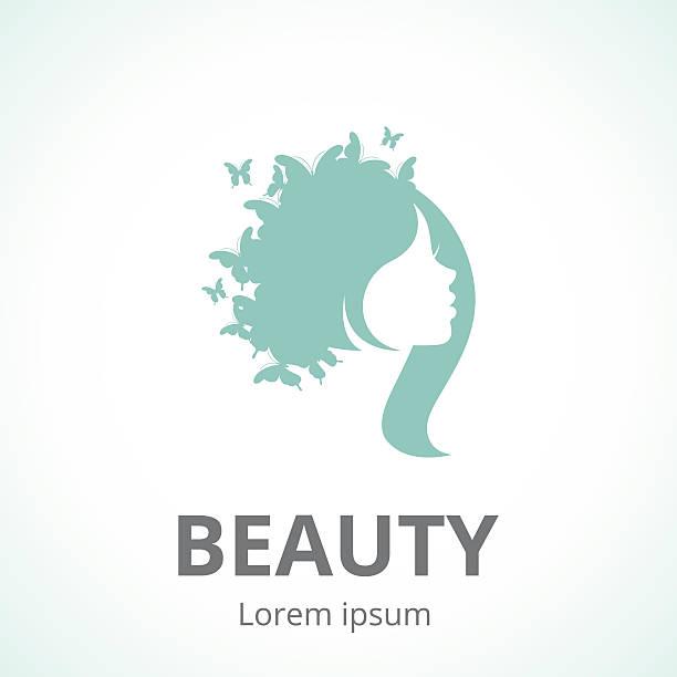 抽象的なロゴ女性の顔のプロファイル - エステ点のイラスト素材/クリップアート素材/マンガ素材/アイコン素材