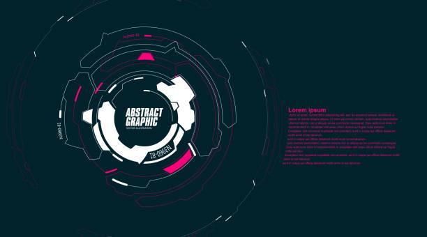 abstraktes grafisches, futuristisches technikgefühl, vektorhintergrund. - dashboard, hintergrund, hell stock-grafiken, -clipart, -cartoons und -symbole