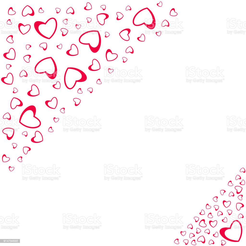 Abstract Love Design Of Hearts For Greeting Cards
