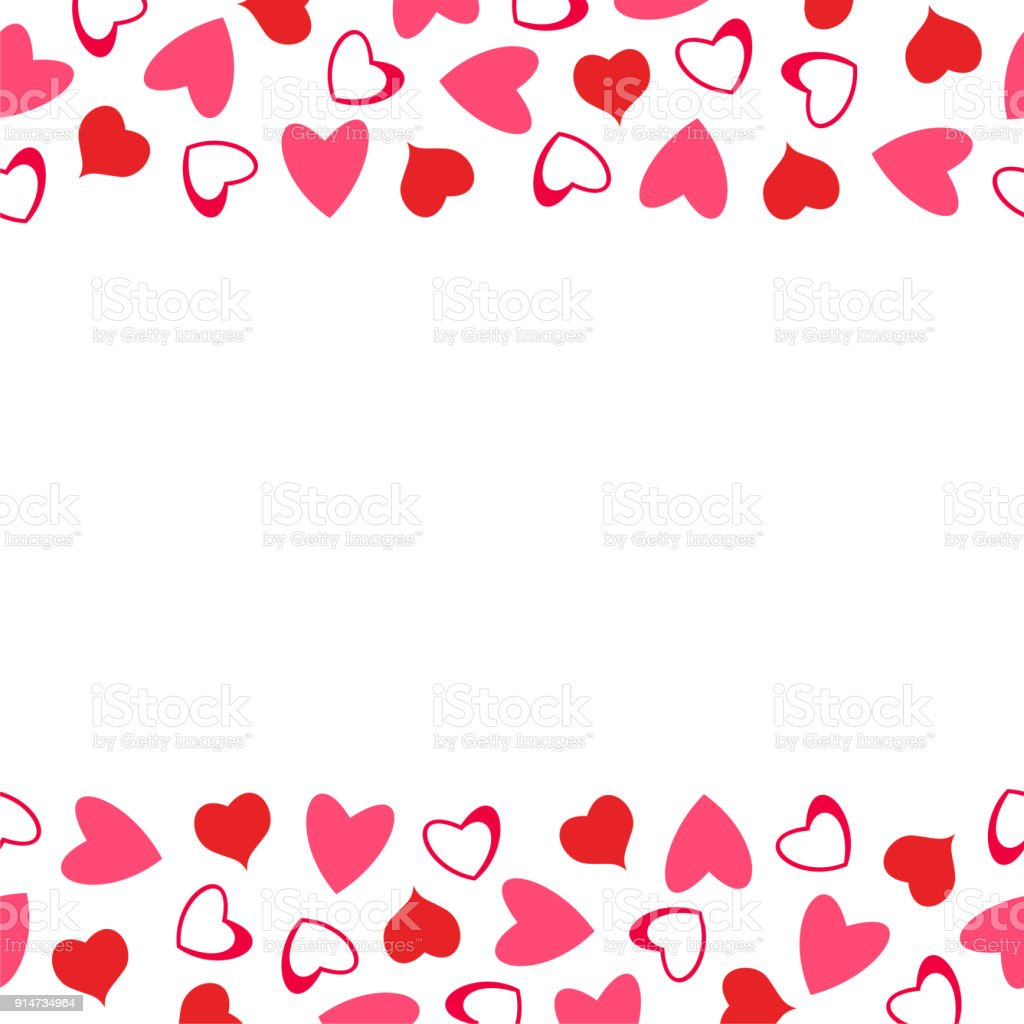 Abstract Love Design Of Hearts For Greeting Cards Invitations