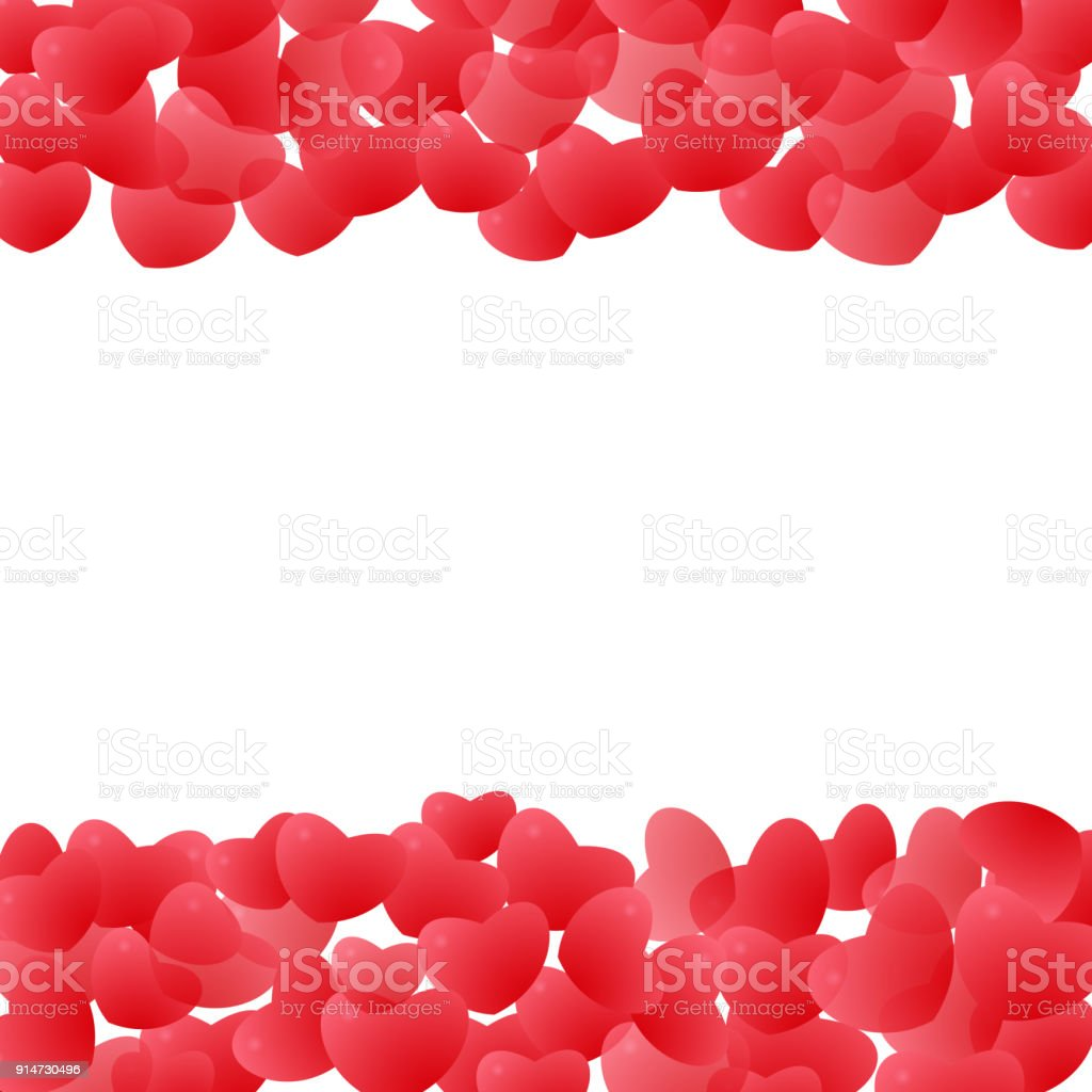 Abstract Love For Your Valentines Day Greeting Card Design Red ...