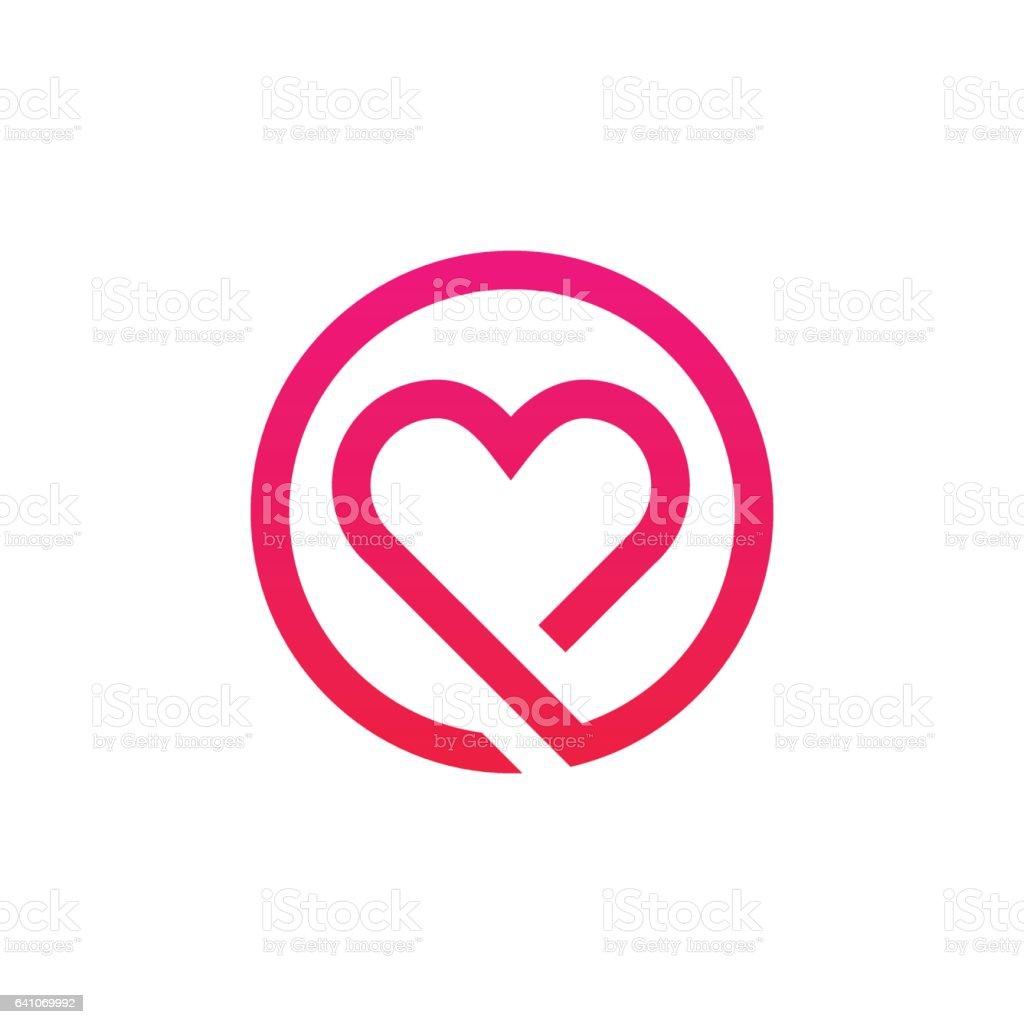 Amor Abstracto logotipo signo ícono minimalista diseño del vector - ilustración de arte vectorial
