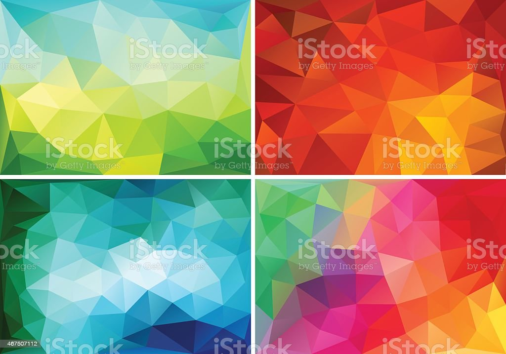 abstract low poly backgrounds, vector set vector art illustration