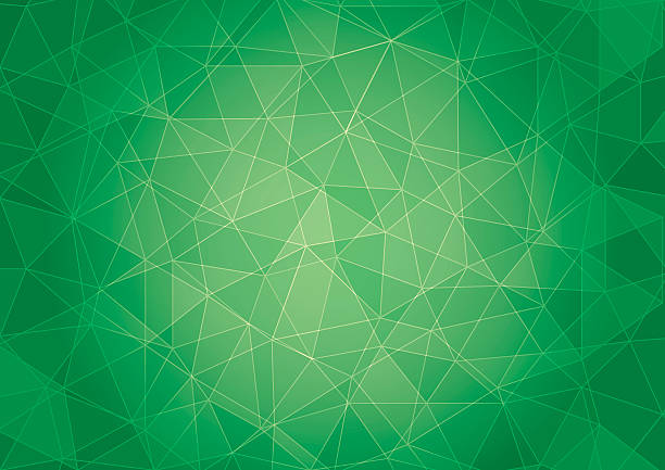 Abstrakte Low-Poly grüner Hintergrund – Vektorgrafik