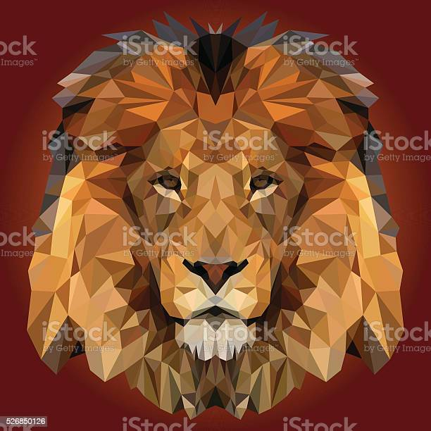 Abstract Low Poly Lion Design Stock Illustration - Download Image Now