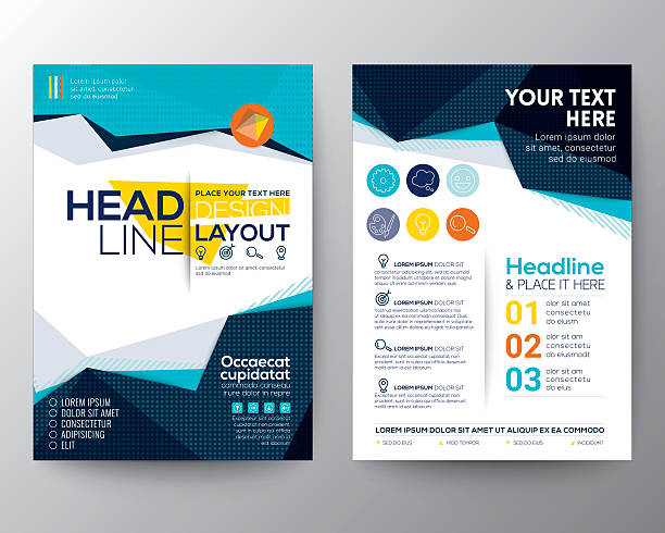 bildbanksillustrationer, clip art samt tecknat material och ikoner med abstract low polygon triangle shape poster brochure flyer design - handbok