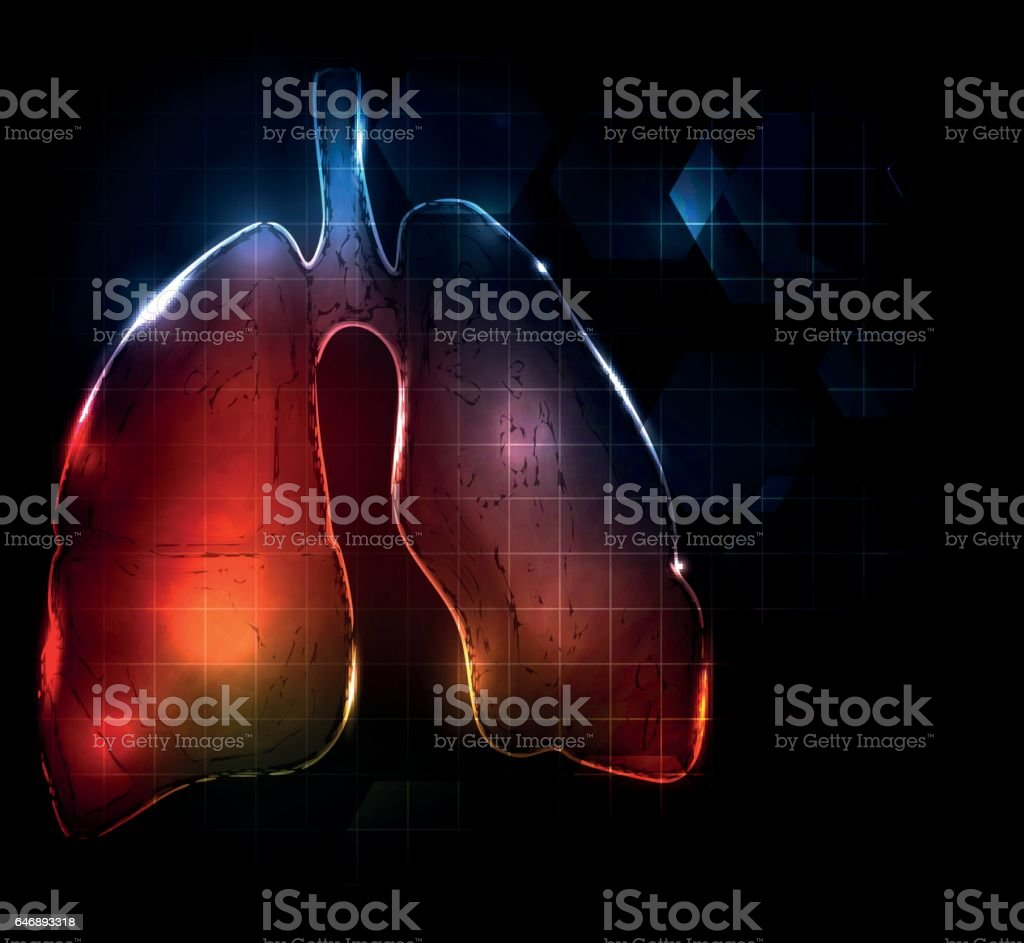 Abstract lungs vector art illustration
