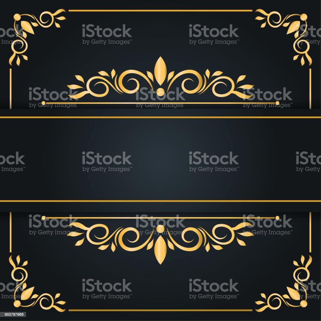 Abstract Luxury Background Ornament Elegant Invitation Wedding Card ...