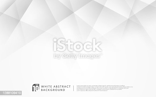 istock Abstract luxury geometric white and grey background with copy space. Modern futuristic concept. Vector illustration 1288109410