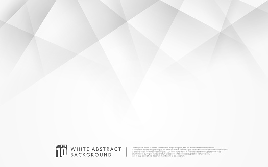Abstract luxury geometric white and grey background with copy space. Modern futuristic concept. Vector illustration