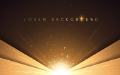 istock Abstract luxury gold background with light effect 1224597489