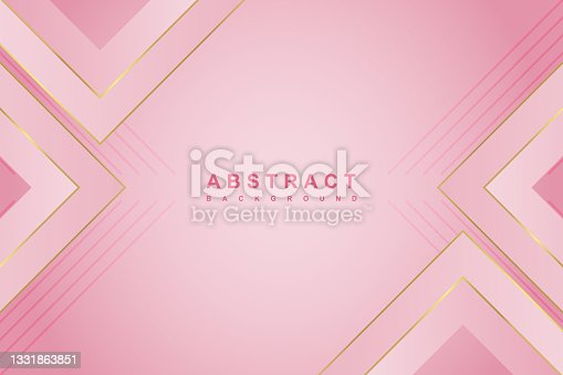 istock Abstract luxury pink gradient background with geometric shape 1331863851