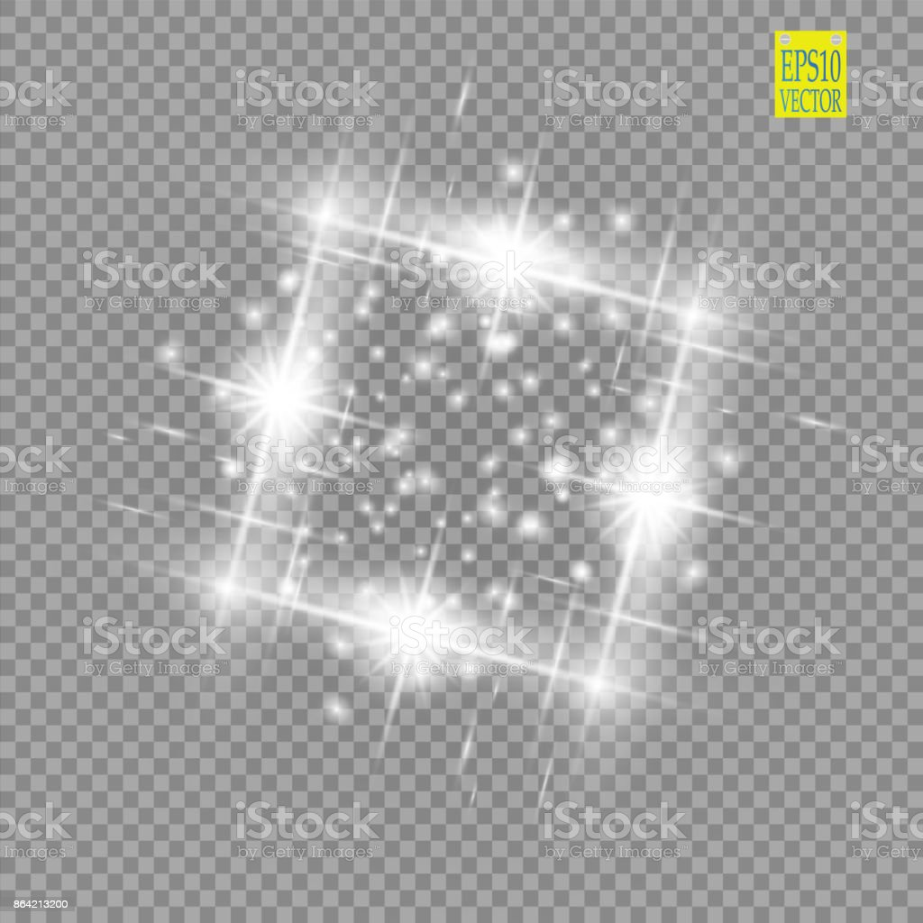 Abstract luxury white vector light flare spark light effect. Sparkling glowing square frame on transparent. Starlight moving background. Glow blurred space for message or logo royalty-free abstract luxury white vector light flare spark light effect sparkling glowing square frame on transparent starlight moving background glow blurred space for message or logo stock vector art & more images of abstract
