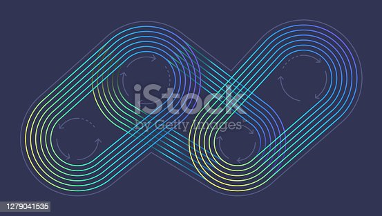 Abstract machine process working server system process gradient design line background.