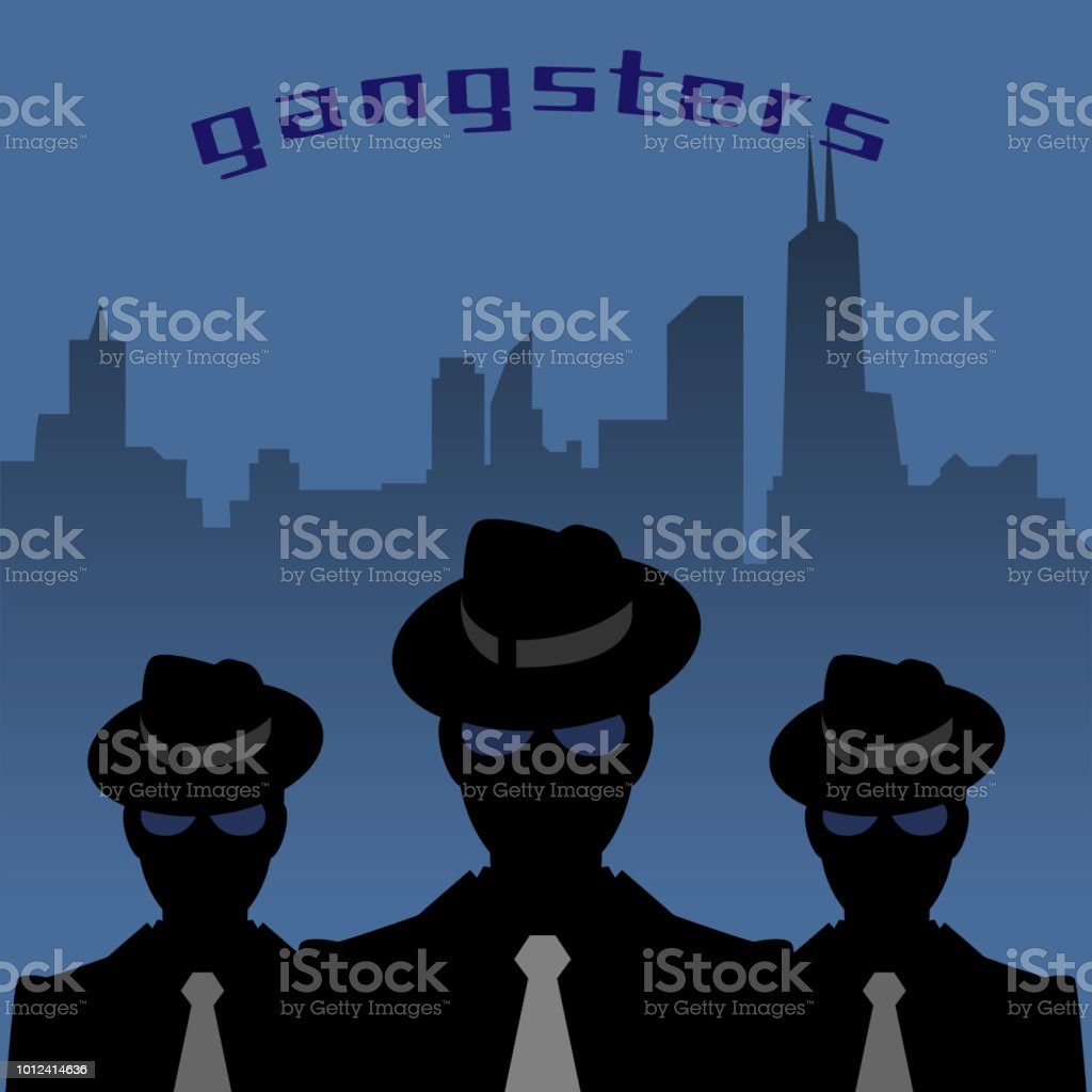 Abstract mafia or gangster background - Illustration .
