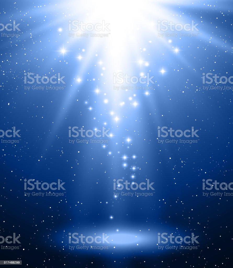 Abstract magic blue  light background vector art illustration