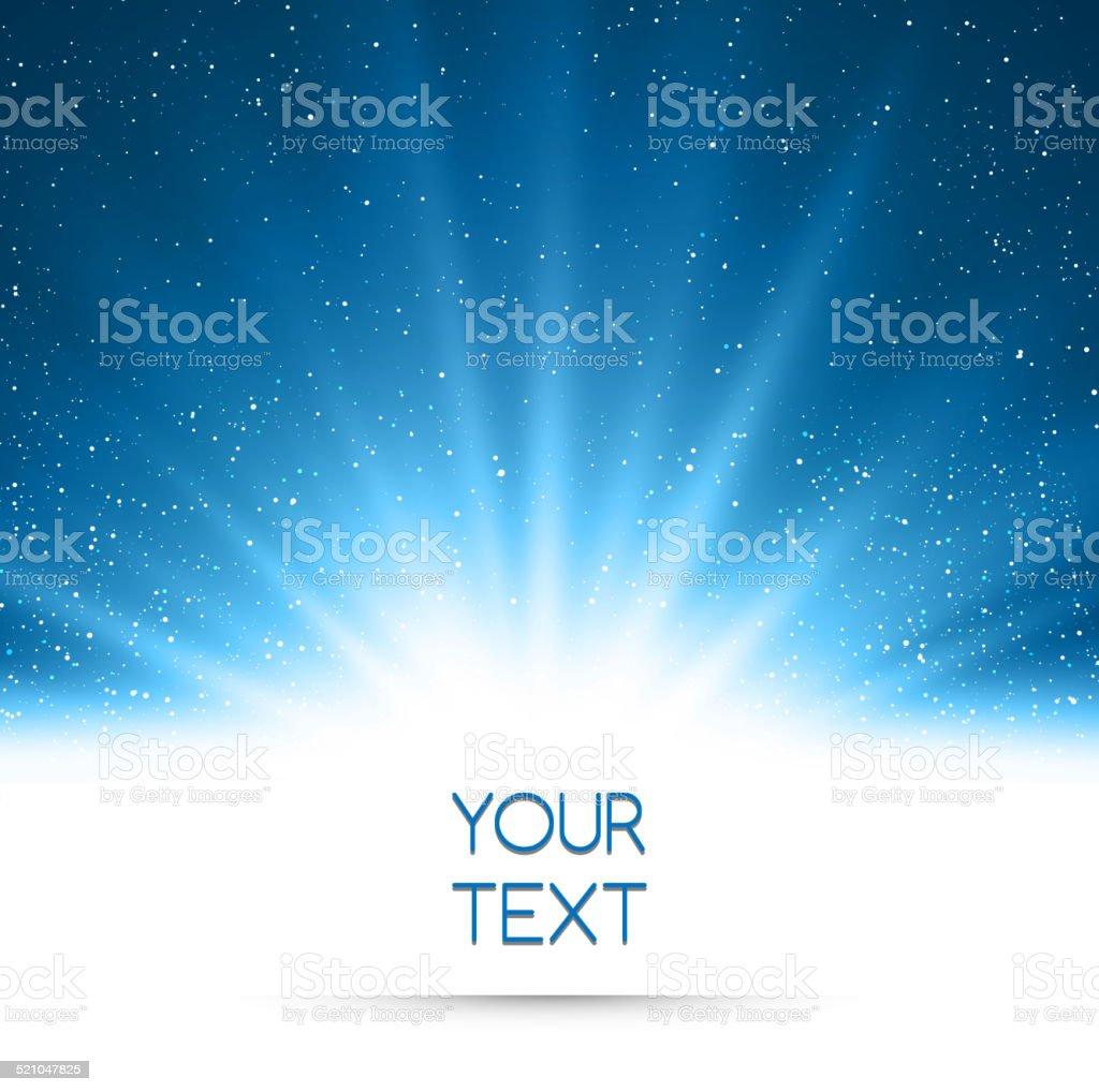 Tło Magiczny niebieskie światła tle - Grafika wektorowa royalty-free (Abstrakcja)