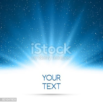 istock Abstract magic blue light background 521047825