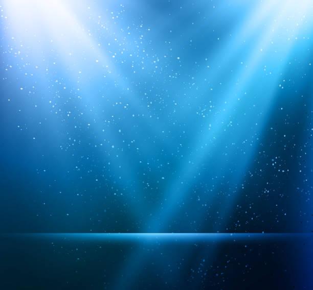 stockillustraties, clipart, cartoons en iconen met abstract magic blue light background - spotlicht belichting