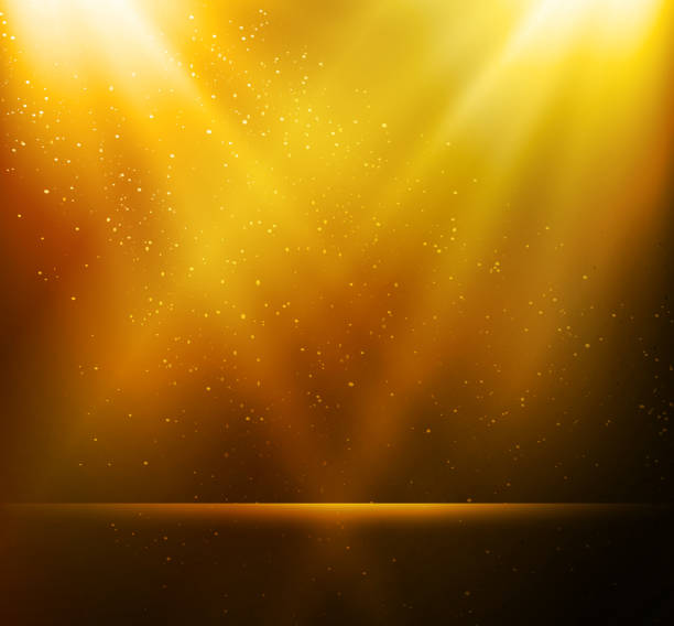 Abstract magic gold light background Vector  illustration Abstract magic gold light background awards ceremony stock illustrations