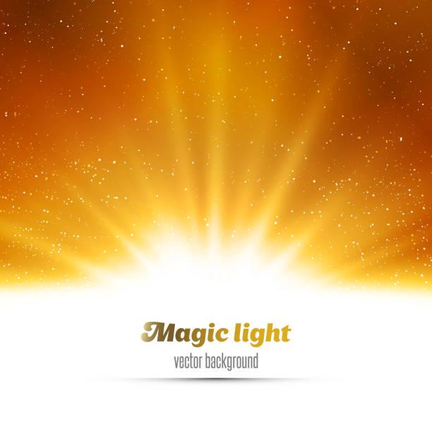 tło magiczny złotym tle światła - holiday background stock illustrations