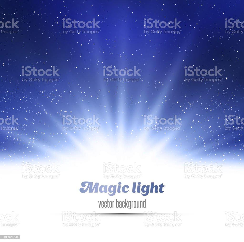 Abstract magic  light background vector art illustration