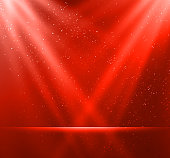 Vector  illustration Abstract magic red light background