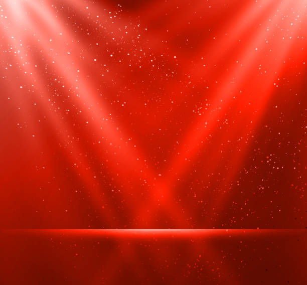 tło magiczny czerwone tło - holiday background stock illustrations