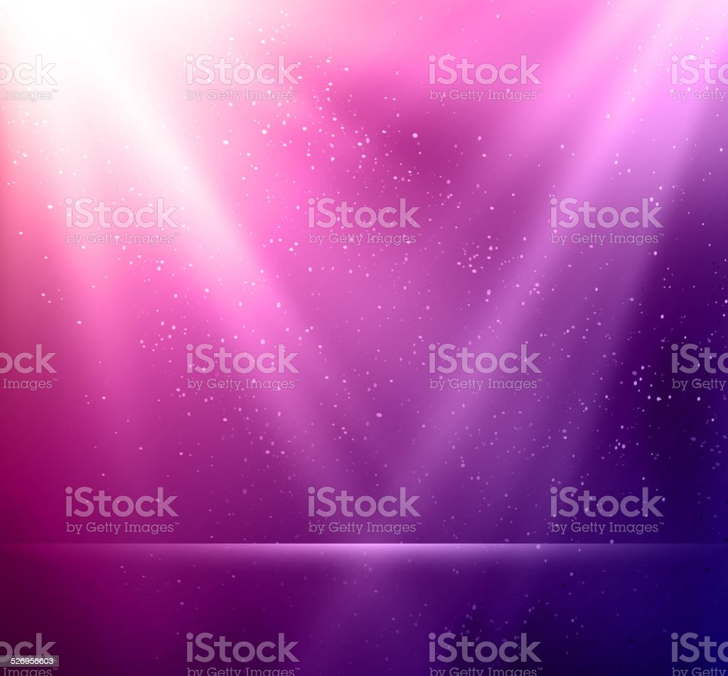 Abstract magic violet light background vector art illustration
