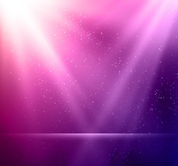 stockillustraties, clipart, cartoons en iconen met abstract magic violet light background - paars
