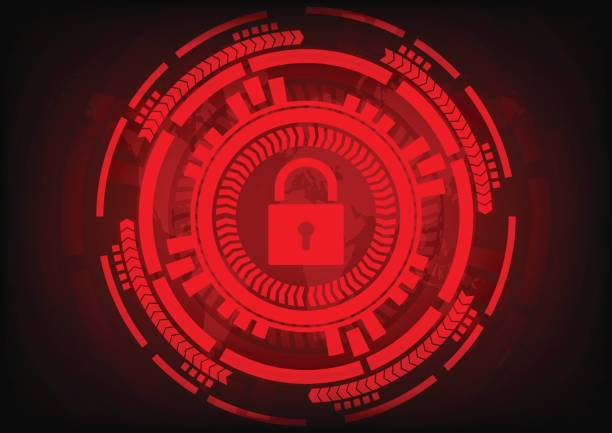 Abstract Malware Ransomware wannacry virus encrypted files with key and gear on wolrd map background. Vector illustration cybercrime and cyber security concept. vector art illustration