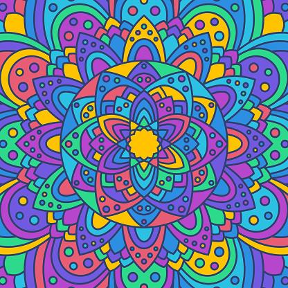 Abstract Mandala Background