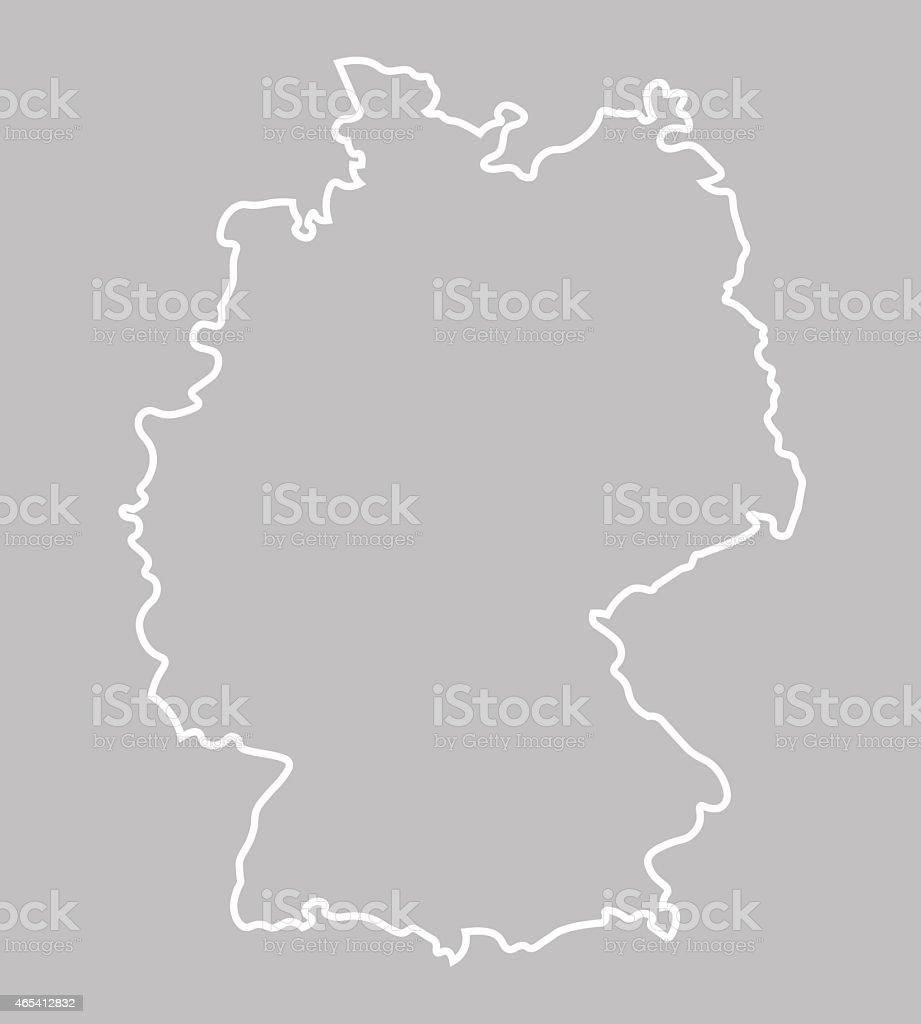 Abstrait carte de l'Allemagne - Illustration vectorielle