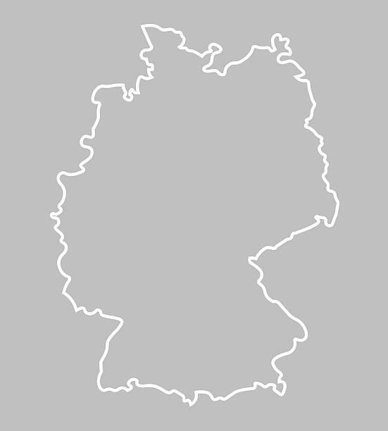 abstrakte karte von deutschland - hannover stock-grafiken, -clipart, -cartoons und -symbole