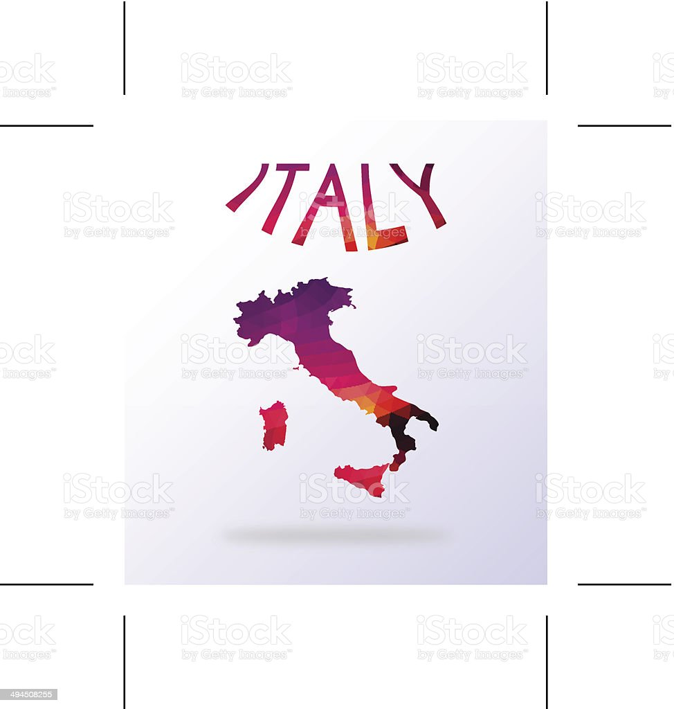 Abstract map of Italy royalty-free stock vector art