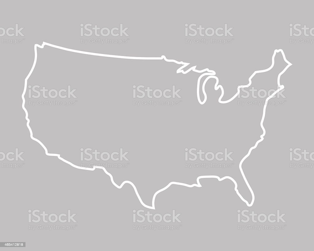 abstract map of United States vector art illustration