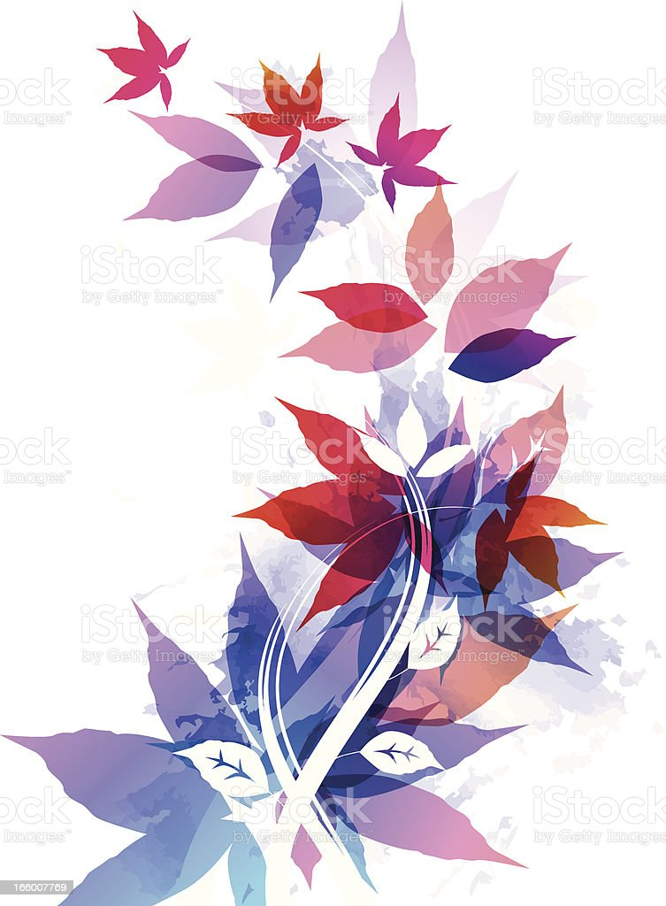 Abstract maple leaves royalty-free stock vector art