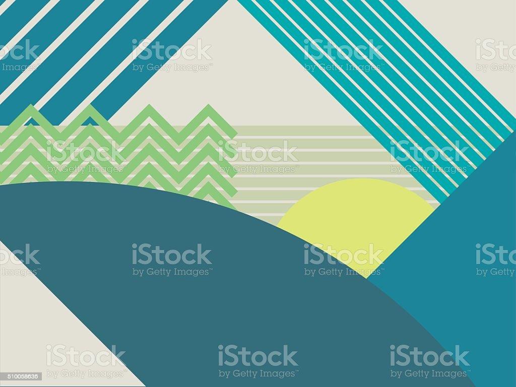 Ilustración de Resumen Material De Diseño De Vector De De Paisaje De ...