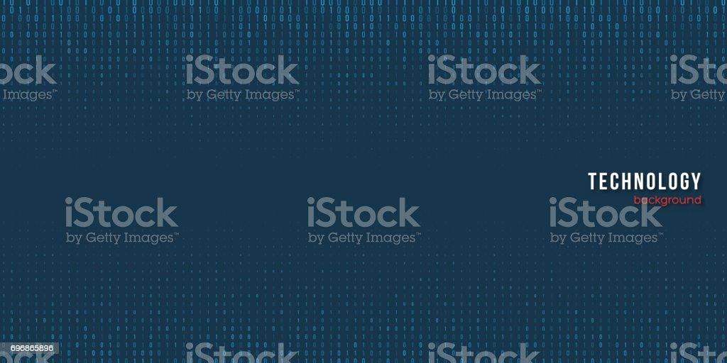 Abstract matrix digital background. vector art illustration