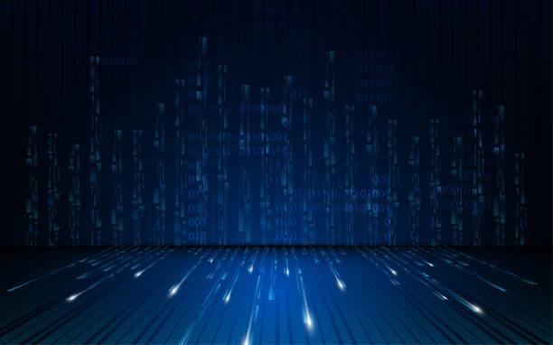 abstrakte Matrix digitale Sicherheit Konzept Hintergrund – Vektorgrafik