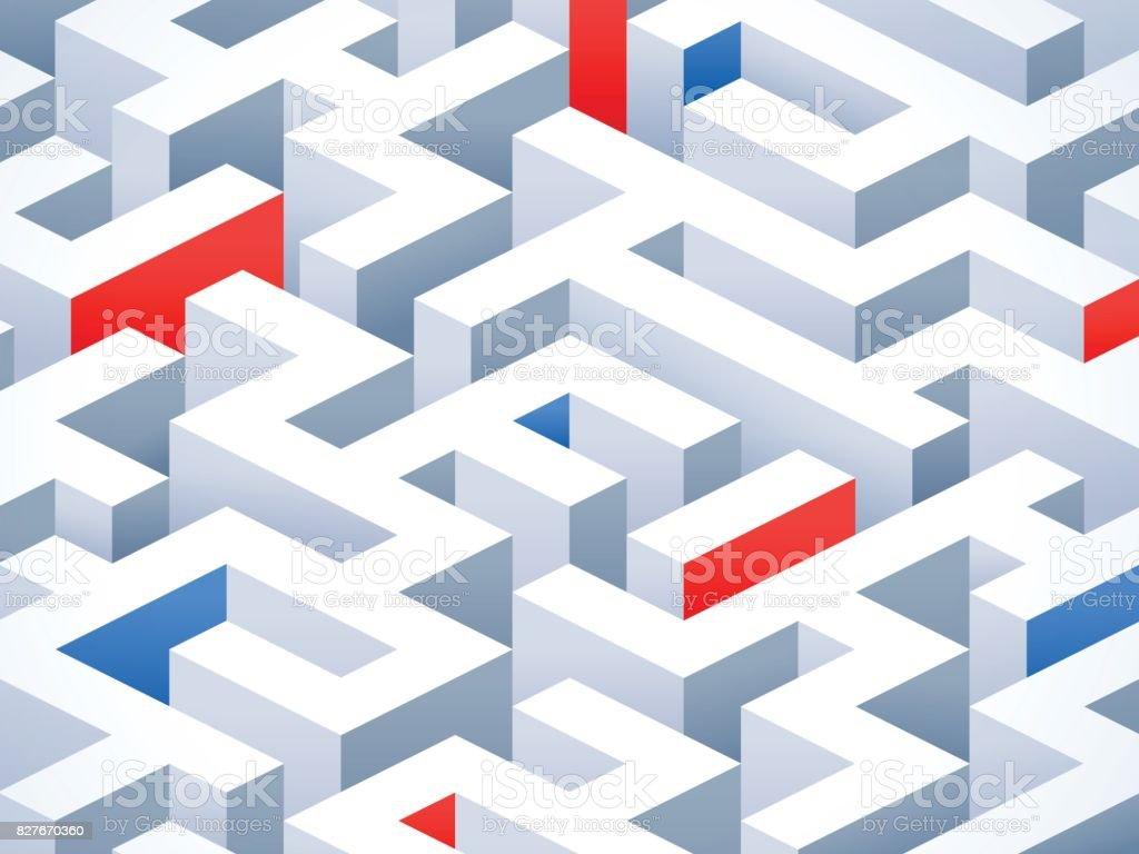 Fondo abstracto Maze - ilustración de arte vectorial